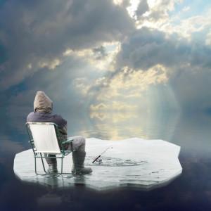 http://www.dreamstime.com/stock-images-ice-fisherman-floating-iceberg-image23629404