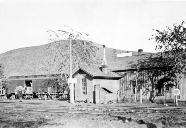 Railroad Depot and buildings located at Aarow Junction, 1926.